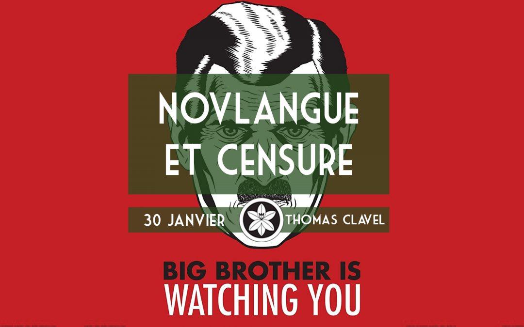Conférence Dextra du 30/01 : Novlangue et Censure