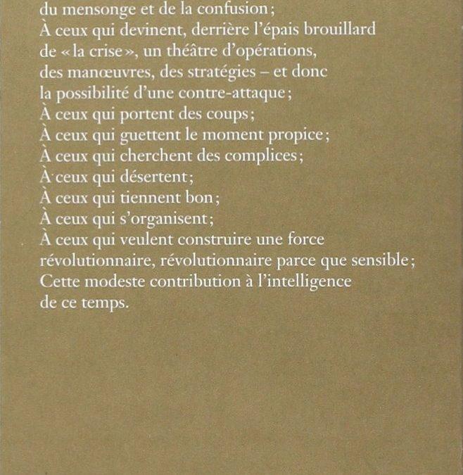 """""""A NOS AMIS"""", du Comité Invisible"""