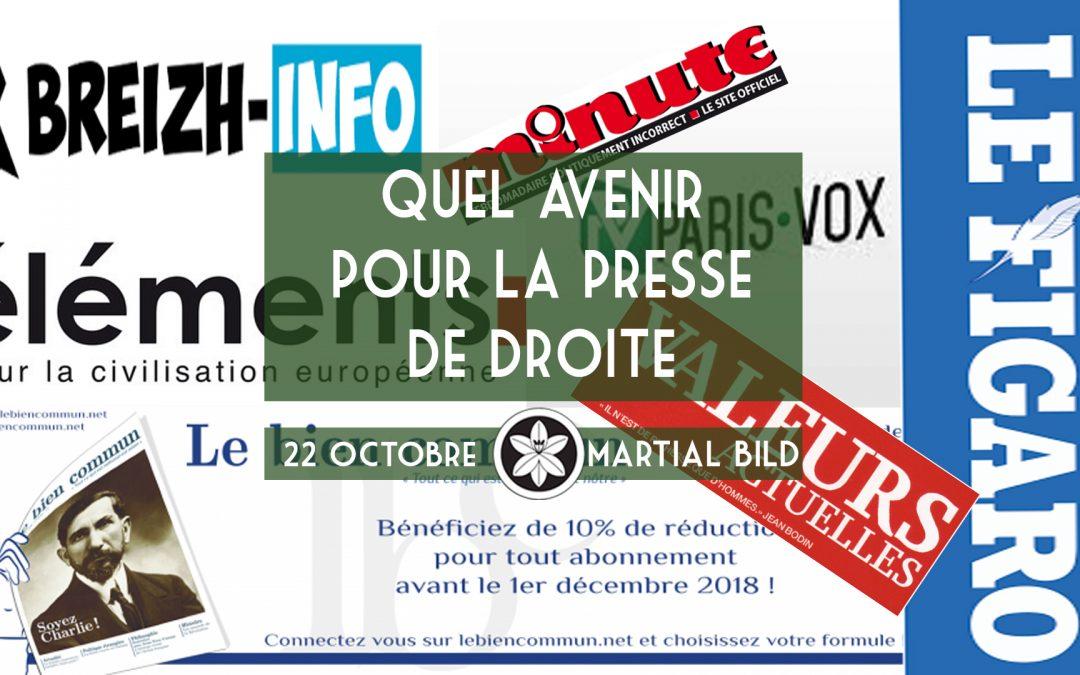 Conférence Dextra du 22/10 : Quel avenir pour la presse de droite ?